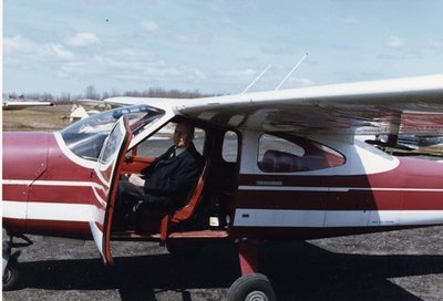 Dr. George C.R. Hall in Son's Plane
