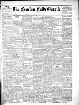 Fenelon Falls Gazette, 29 Jan 1881