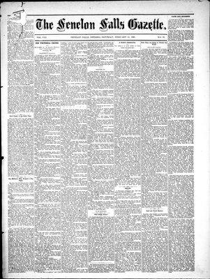 Fenelon Falls Gazette, 19 Feb 1881
