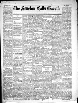 Fenelon Falls Gazette, 12 Mar 1881