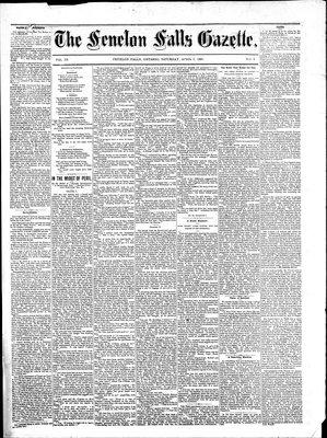 Fenelon Falls Gazette, 9 Apr 1881