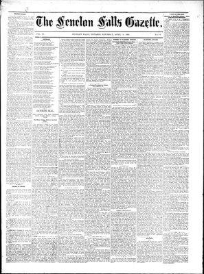 Fenelon Falls Gazette, 30 Apr 1881