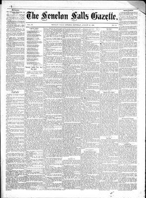 Fenelon Falls Gazette, 20 Aug 1881