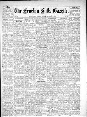 Fenelon Falls Gazette, 26 Nov 1881