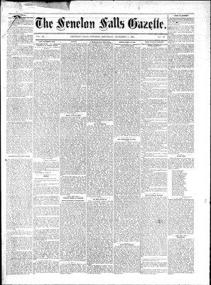 Fenelon Falls Gazette, 3 Dec 1881