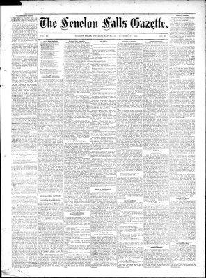 Fenelon Falls Gazette, 17 Dec 1881