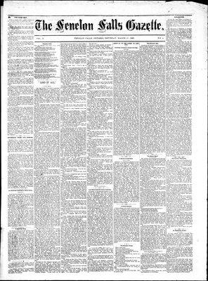 Fenelon Falls Gazette, 25 Mar 1882