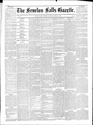 Fenelon Falls Gazette, 22 Apr 1882