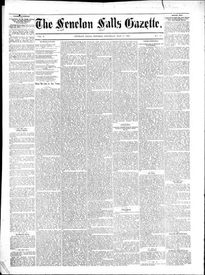 Fenelon Falls Gazette, 13 May 1882