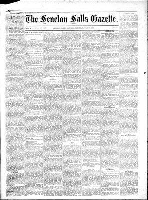 Fenelon Falls Gazette, 27 May 1882