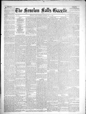 Fenelon Falls Gazette, 4 Nov 1882