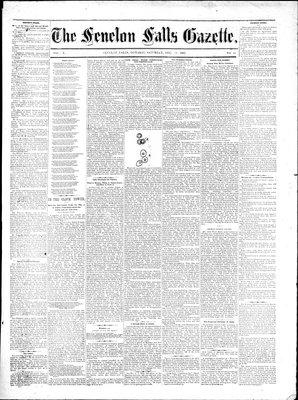 Fenelon Falls Gazette, 16 Dec 1882
