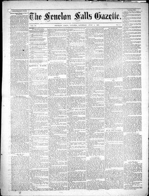 Fenelon Falls Gazette, 2 Jun 1883