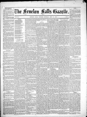Fenelon Falls Gazette, 22 Sep 1883