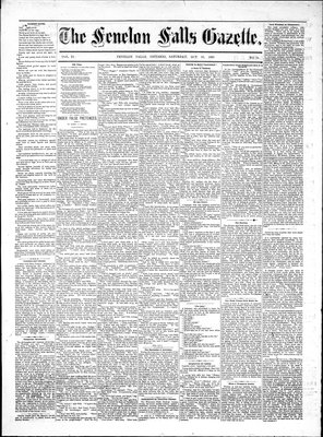 Fenelon Falls Gazette, 20 Oct 1883