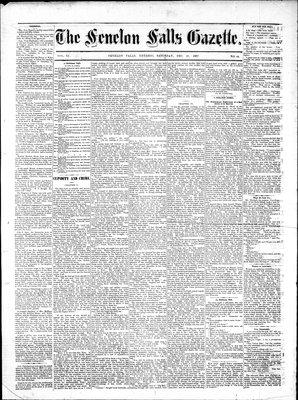 Fenelon Falls Gazette, 29 Dec 1883