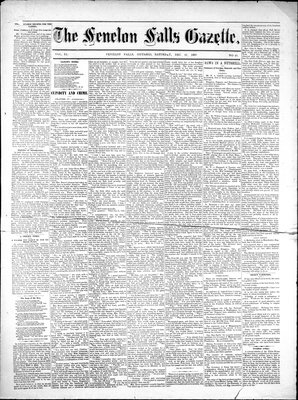 Fenelon Falls Gazette, 22 Dec 1883