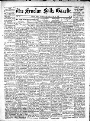 Fenelon Falls Gazette, 14 Jun 1884