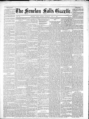 Fenelon Falls Gazette, 5 Jul 1884