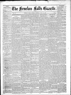 Fenelon Falls Gazette, 12 Jul 1884