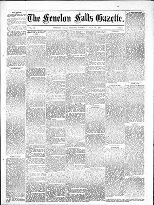 Fenelon Falls Gazette, 19 Jul 1884