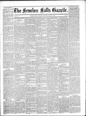 Fenelon Falls Gazette, 2 Aug 1884