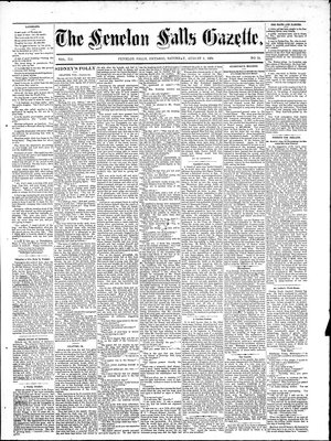 Fenelon Falls Gazette, 9 Aug 1884