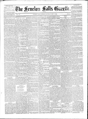Fenelon Falls Gazette, 6 Sep 1884