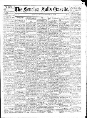 Fenelon Falls Gazette, 25 Oct 1884