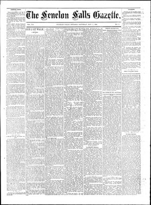Fenelon Falls Gazette, 1 Nov 1884