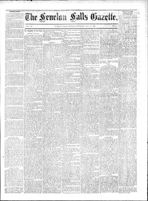Fenelon Falls Gazette, 22 Nov 1884