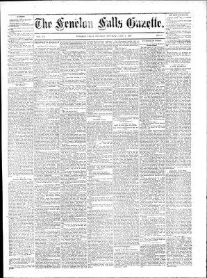 Fenelon Falls Gazette, 6 Dec 1884