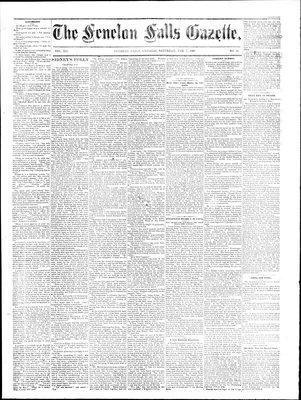 Fenelon Falls Gazette, 7 Feb 1885