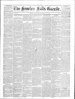 Fenelon Falls Gazette, 14 Feb 1885
