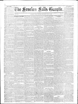 Fenelon Falls Gazette, 21 Feb 1885