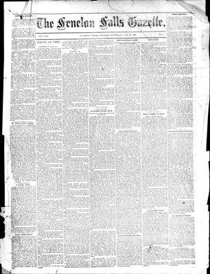 Fenelon Falls Gazette, 28 Feb 1885