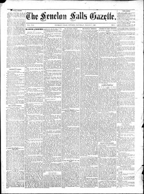 Fenelon Falls Gazette, 7 Mar 1885