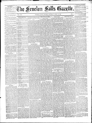 Fenelon Falls Gazette, 18 Apr 1885