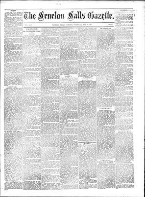 Fenelon Falls Gazette, 30 May 1885