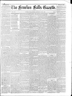 Fenelon Falls Gazette, 6 Jun 1885