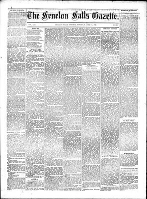 Fenelon Falls Gazette, 13 Jun 1885