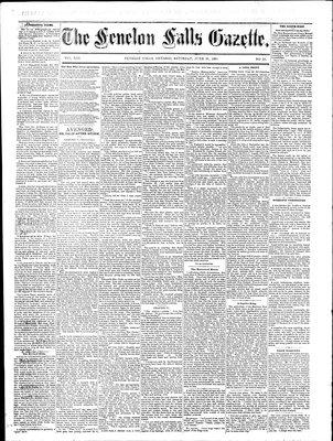 Fenelon Falls Gazette, 20 Jun 1885