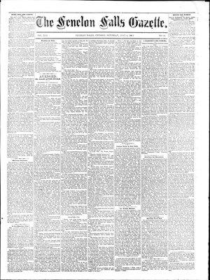Fenelon Falls Gazette, 4 Jul 1885