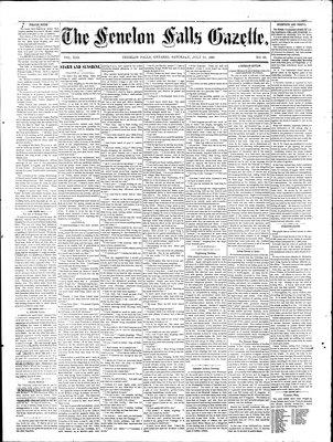 Fenelon Falls Gazette, 25 Jul 1885