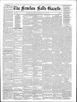 Fenelon Falls Gazette, 29 Aug 1885