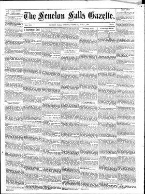 Fenelon Falls Gazette, 5 Sep 1885