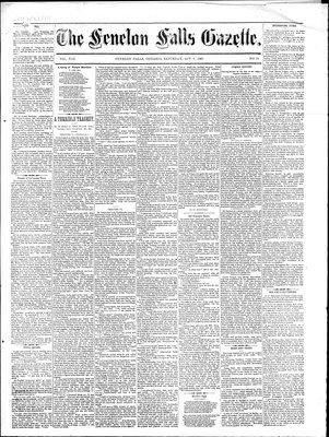 Fenelon Falls Gazette, 3 Oct 1885