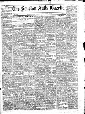 Fenelon Falls Gazette, 13 Feb 1886