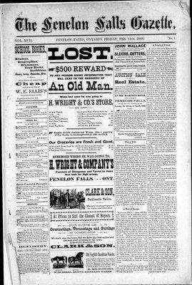 Fenelon Falls Gazette, 15 Feb 1889