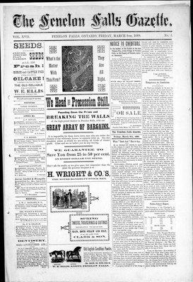 Fenelon Falls Gazette, 8 Mar 1889